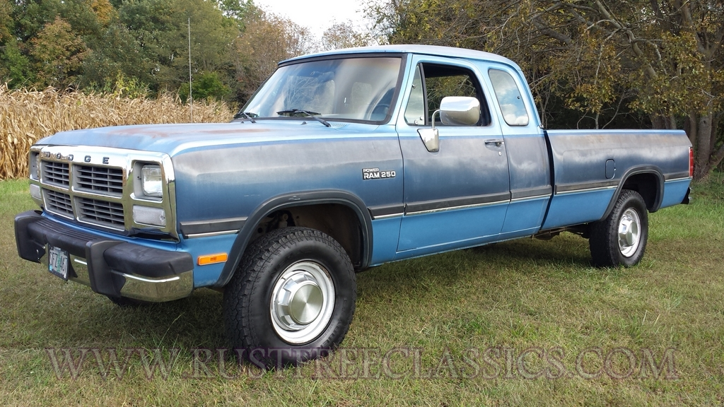 1991 Dodge W250 Extended Cab 4x4 91 Power Ram